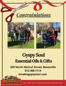 Gypsy Soul Essential Oils & Gifts ribbon cutting photo