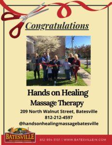 Hands on Healing Massage Therapy ribbon cutting photo
