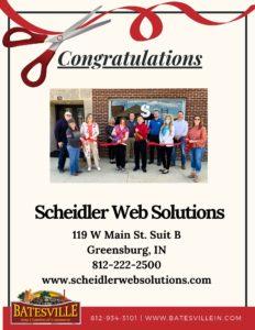 Scheidler Web Solutions ribbon cutting photo