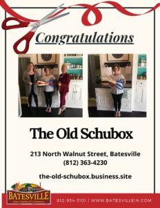 The Old Schubox ribbon cutting photo