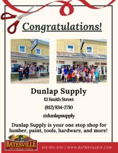 Dunlap Supply ribbon cutting photo