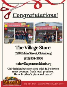 The Village Store ribbon cutting photo