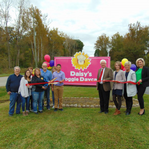 Daisy's Doggie Daycare ribbon cutting photo