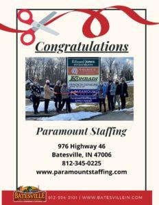 Paramount Staffing ribbon cutting photo