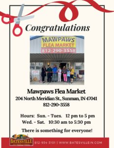 Mawpaw's Flea Market ribbon cutting photo